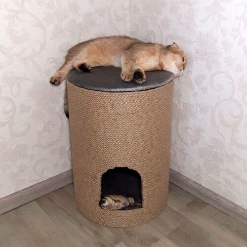 Пуф-дряпка для котів